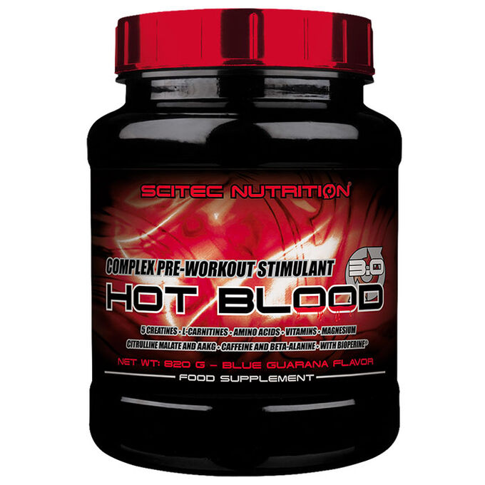 Scitec Nutrition Hot Blood 3.0 15 Servings Blue Guarana