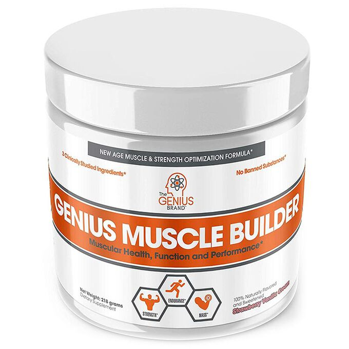 Genius Muscle Builder 30 Servings Strawberry Vanilla Cream