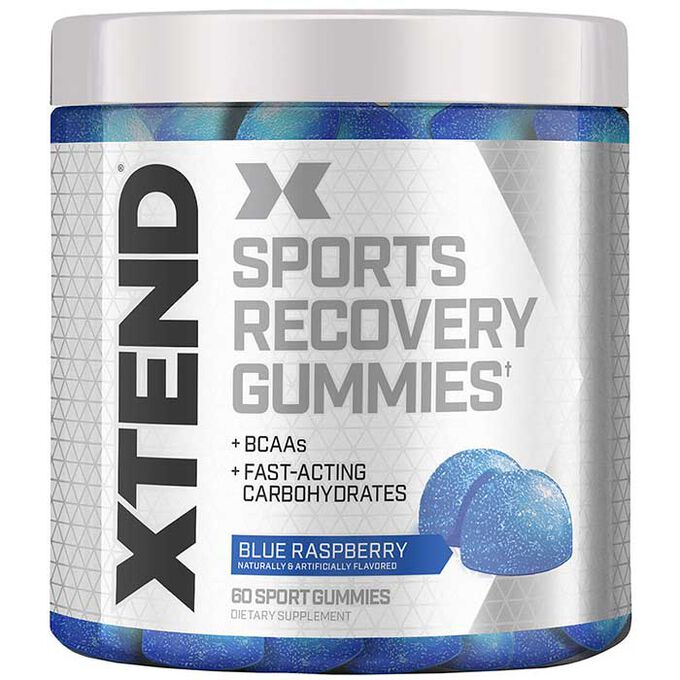 Scivation Xtend Sport Recovery Gummies 60 Gummies Blue Raspberry