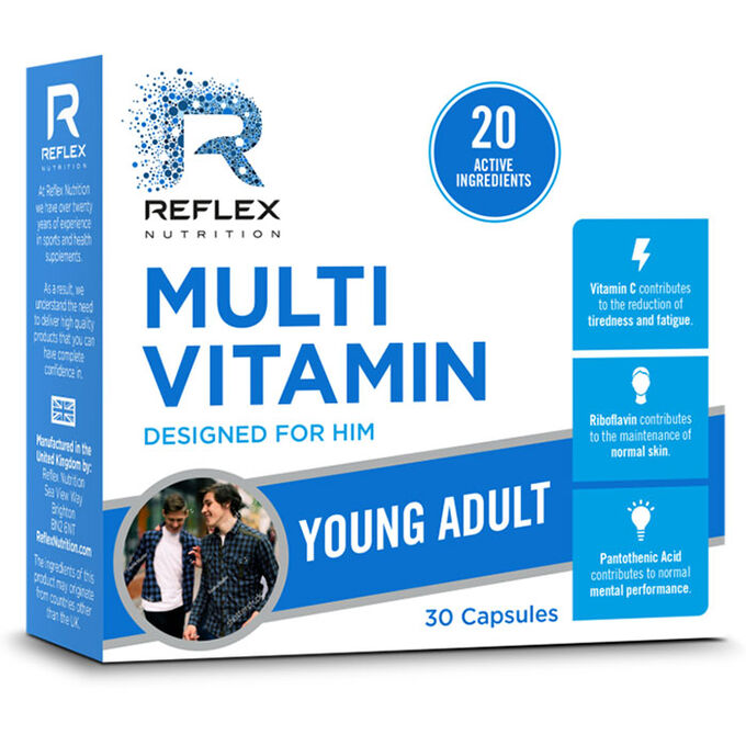 Reflex Reflex Multi Vitamin For Him Young Adult 30 Capsules