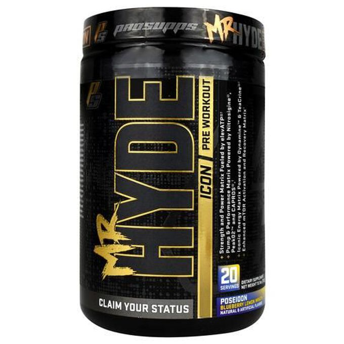 Prosupps Mr Hyde Icon Pre-workout 20 Servings  Zeus Raspberry Lime Thunder