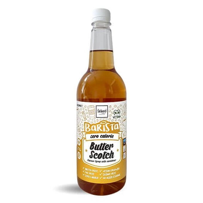 The Skinny Food Co Non-Dairy Sugar Free Barista Syrup 1 Litre Butterscotch