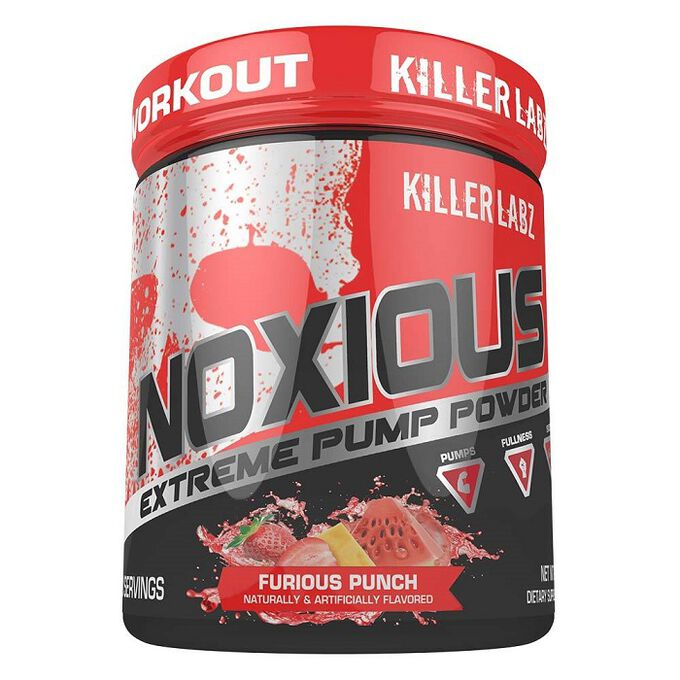 Killer Labz Noxious Pump Powder 30 Servings Furious Punch