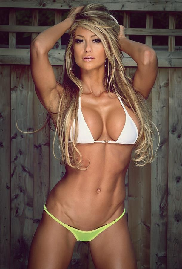 Bikini blonde fitness model #15