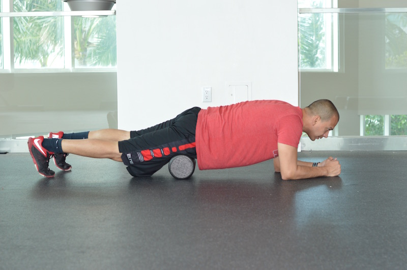 Quad Foam Roll Exercise