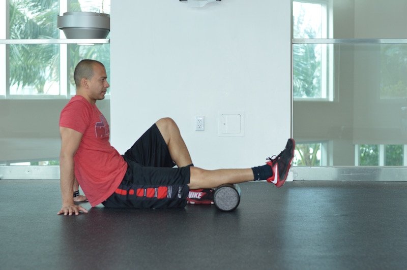 Calf Foam Roll Exercise
