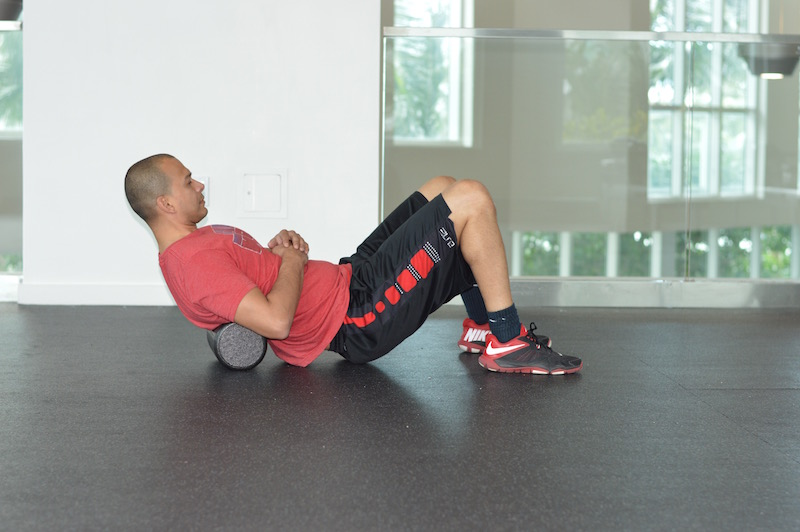 Upper Back Foam Roll Exercise