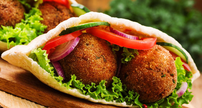 Falafels ready to eat