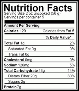 Whole Wheat Pasta Nutrition Facts