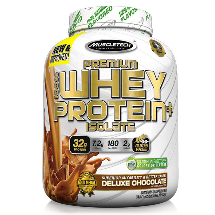 Image of Muscletech 100% Premium Whey Isolate Plus 1.36kg Rich Chocolate
