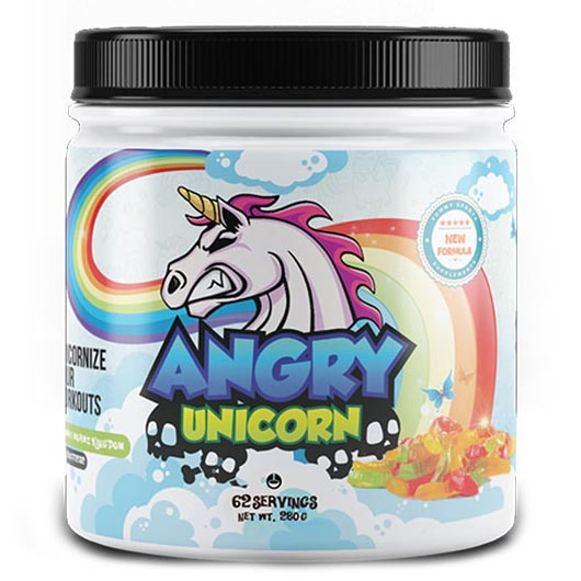 Image of Yummy Sports Angry Unicorn 62 Servings Psychedelic Berries
