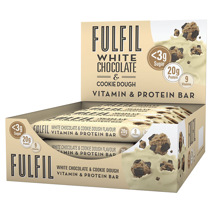 Image of Fulfil Nutrition Fulfil Vitamin and Protein Bar 15 Bars White Chocolate and Cookie Dough