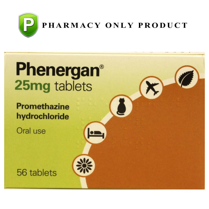 Image of Pharmacy Medicines Phenergan 56 x 10mg Tablets