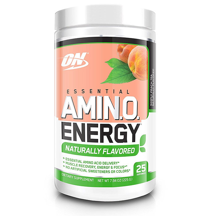 Amino Energy Naturally Flavoured 25 Servings Simply Peach Tea