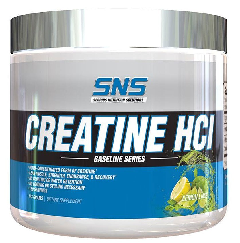 Image of Serious Nutrition Solutions Creatine HCL 153g Lemon Lime