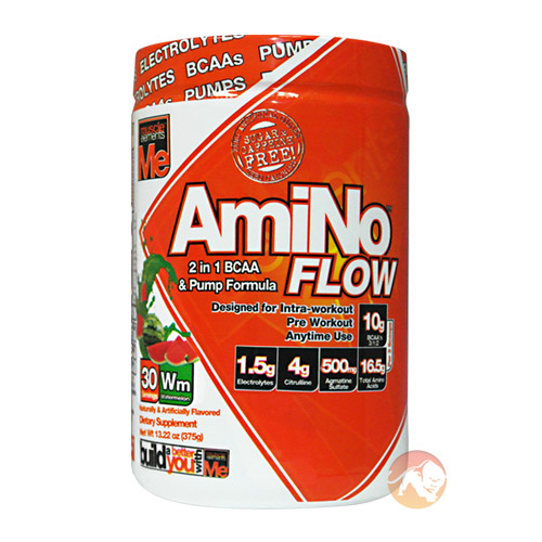 Image of Muscle Elements Amino Flow 30 Servings Watermelon
