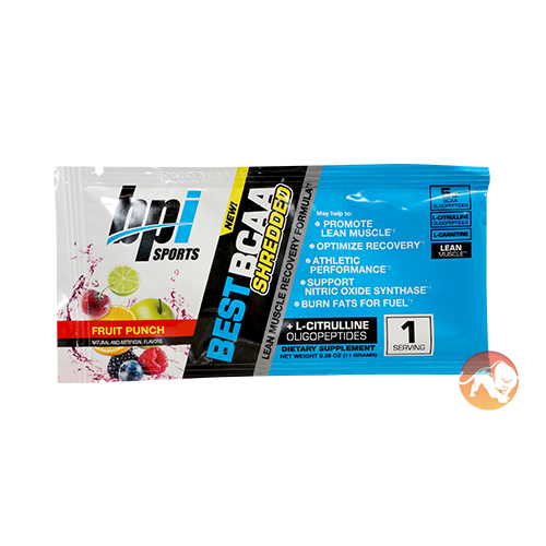 BPI Best BCAA Shredded Trial Serving Fruit Punch