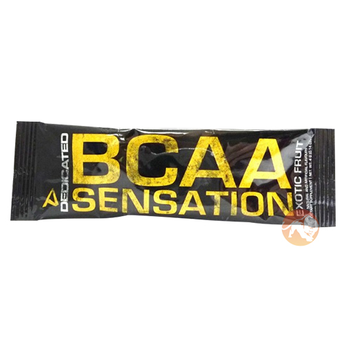 Image of Dedicated Nutrition BCAA Sensation Trial Serving Exotic Fruit
