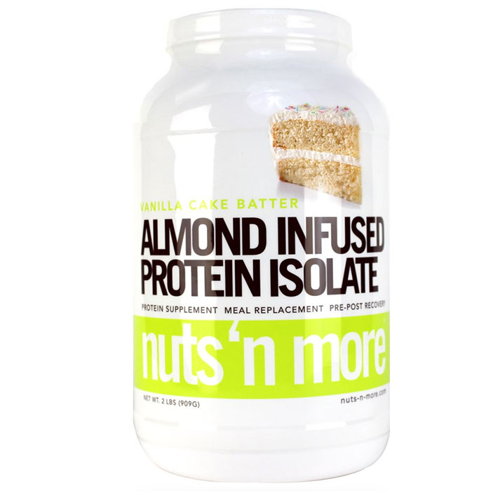 Image of Nuts 'N More Almond Infused Protein Isolate 955g Vanilla Cake Batter