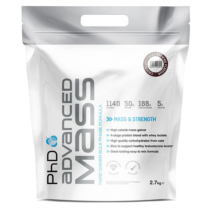 Image of PHD Nutrition Advanced Mass 2.7kg - Chocolate Fudge
