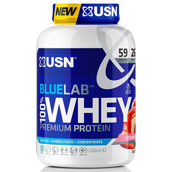 Image of USN Blue Lab 100% Whey 2kg Strawberry