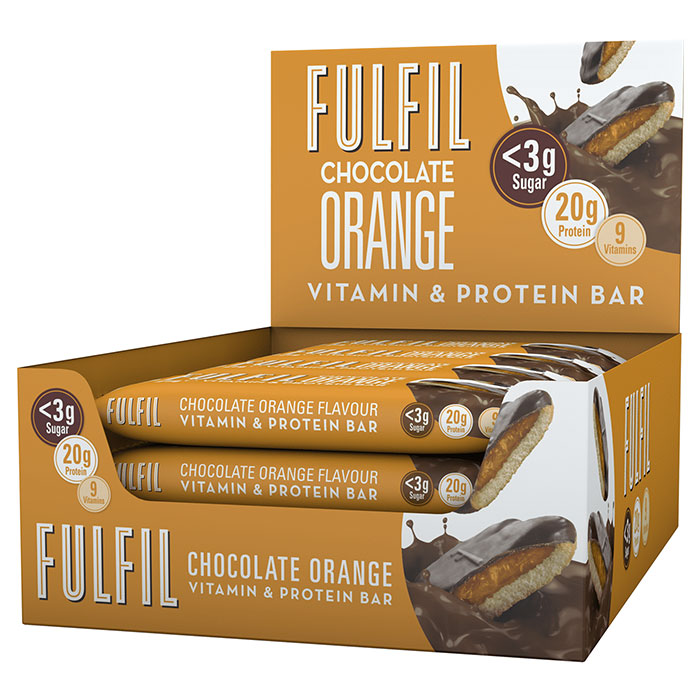 Image of Fulfil Nutrition Fulfil Vitamin and Protein Bar 15 Bars Chocolate Orange