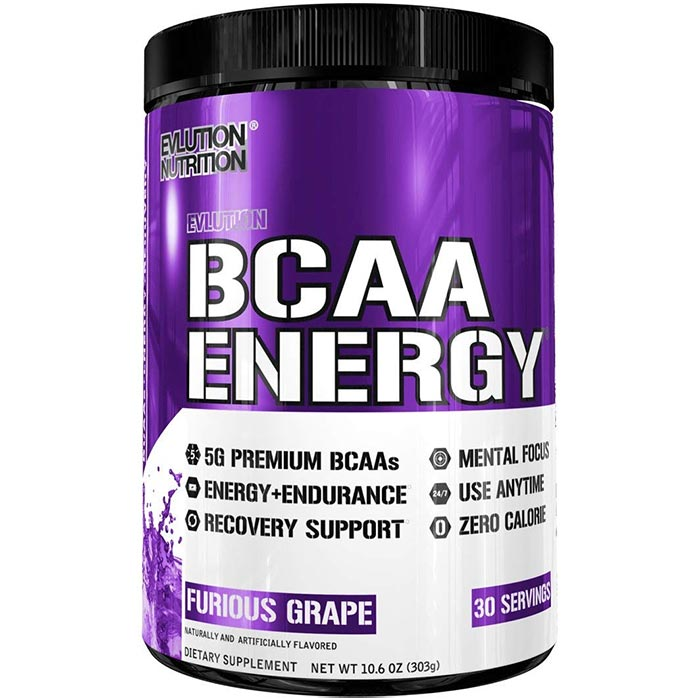 Image of Evlution Nutrition BCAA Energy 30 Servings Grape
