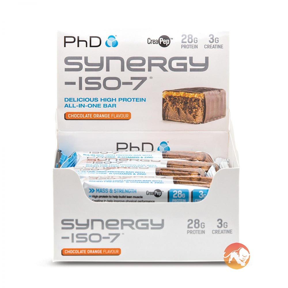Synergy Iso-7 12 Bars - Chocolate Orange