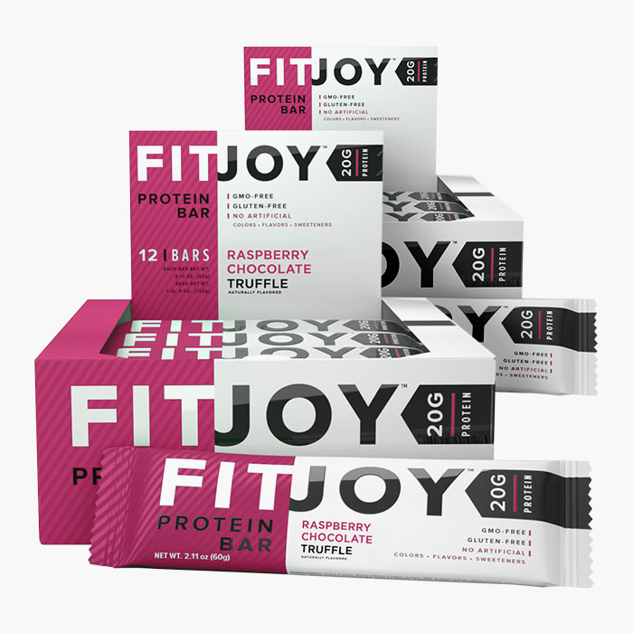 Image of Fitjoy Fitjoy Bars 12 Bars Chocolate Raspberry Truffle