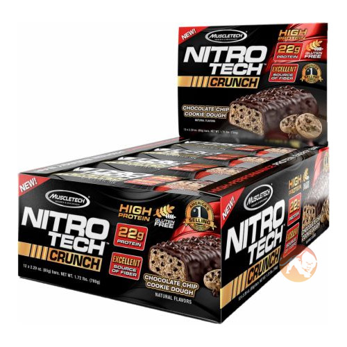 Nitrotech Crunch Bar 12 Bars Chocolate Peanut Butter