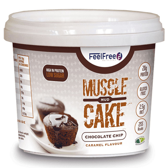 Image of Feel Free Nutrition Muscle Mud Cake Chocolate Chip Caramel