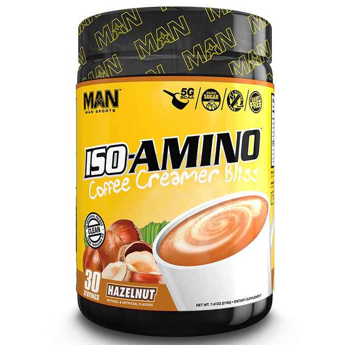 Image of Man Sports Iso-Amino Coffee Creamer 30 Servings Hazelnut