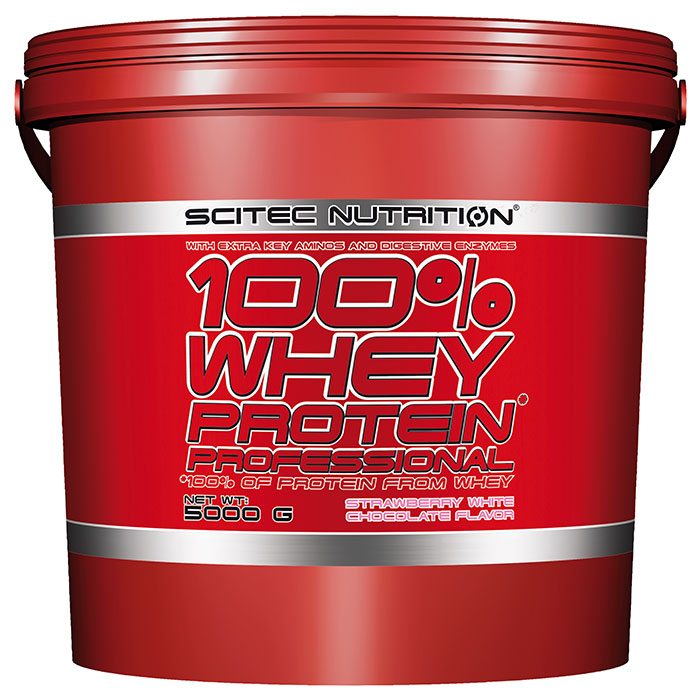 100% Whey Protein Professional 5000g Strawberry White Chocolate