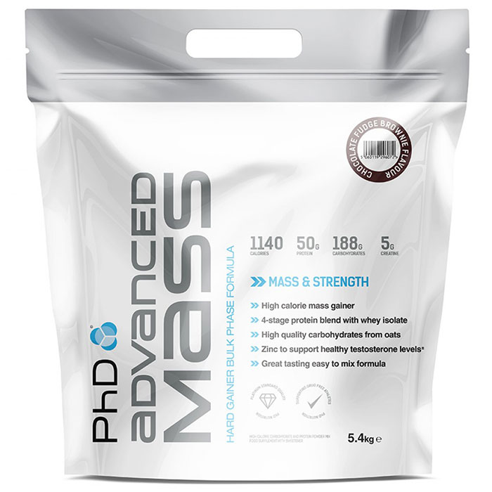 Image of PHD Nutrition Advanced Mass 5.4kg - Chocolate Fudge