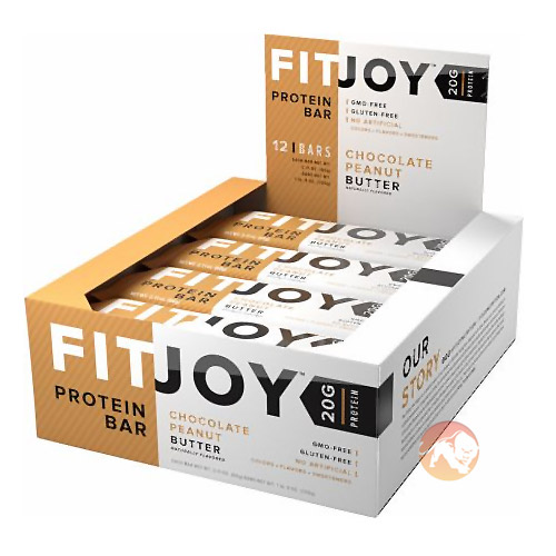 Fitjoy Bars 12 Bars Chocolate Peanut Butter