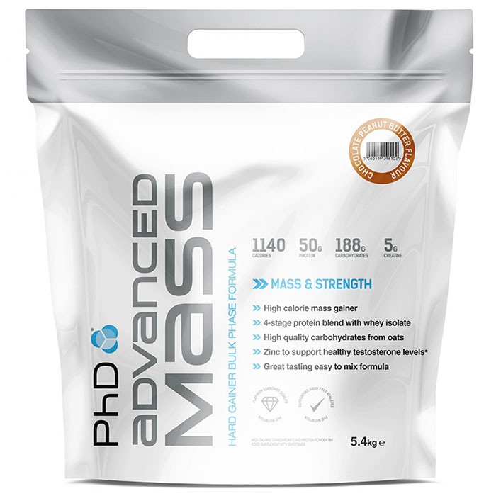 Image of PHD Nutrition Advanced Mass 5.4kg - Chocolate Peanut