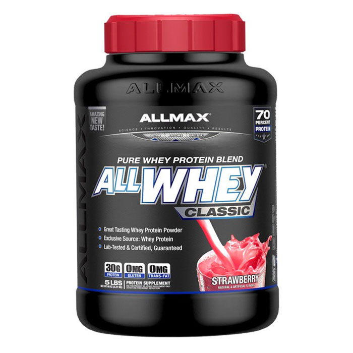Image of Allmax Nutrition AllWhey Classic 2.27kg (5lb) Strawberry