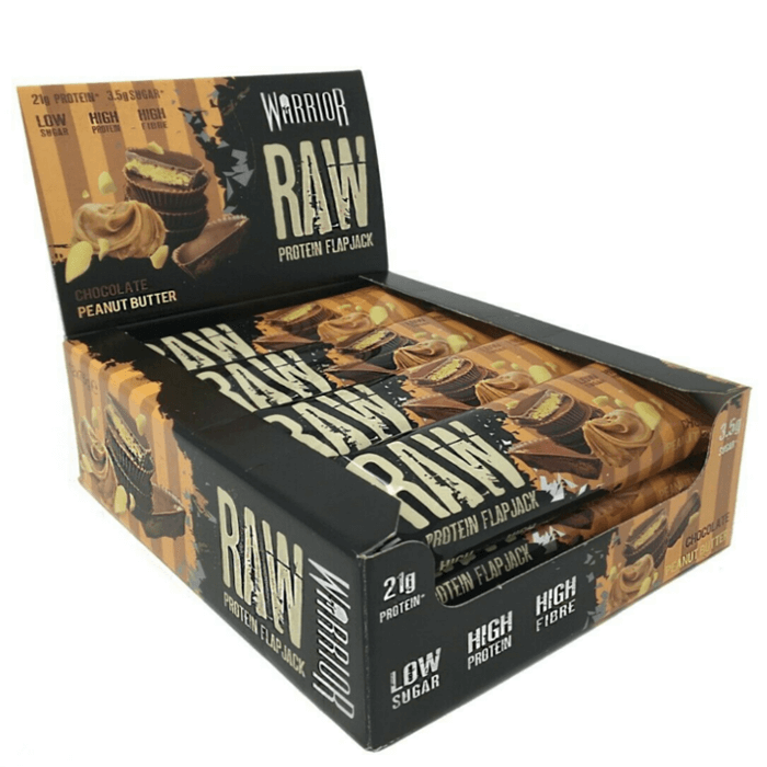 Image of Warrior Warrior Raw Protein Flapjacks 12 Pack Chocolate Peanut Butter