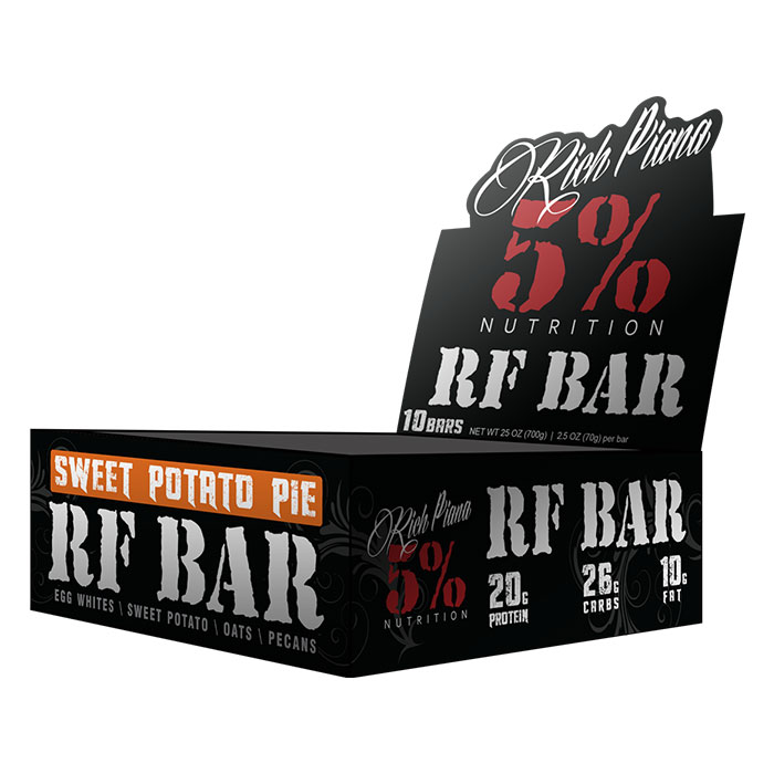 Image of 5% Rich Piana Real Food Bar 10 Bars Sweet Potato Pie