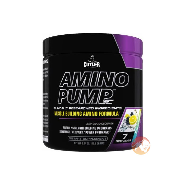 Image of Cutler Nutrition Cutler Amino Pump 7 Servings Blue Lemonade