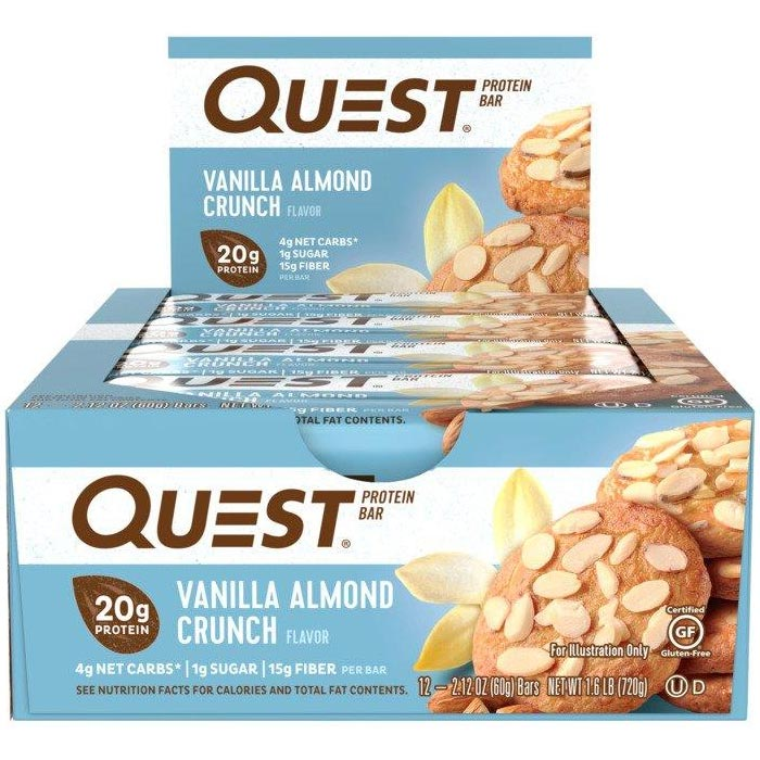 Quest Bars 12 Vanilla Almond Crunch