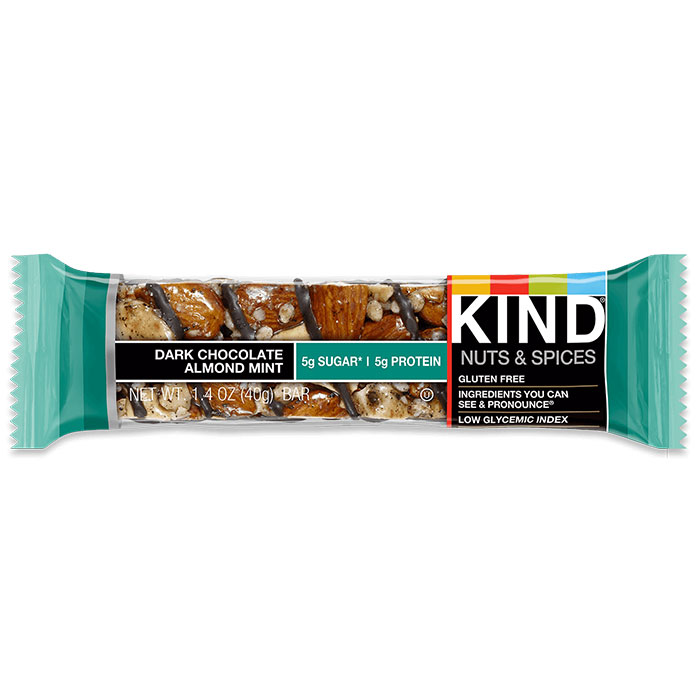 Kind Bars Nuts and Spices 1 Bar Dark Chocolate Almond Mint