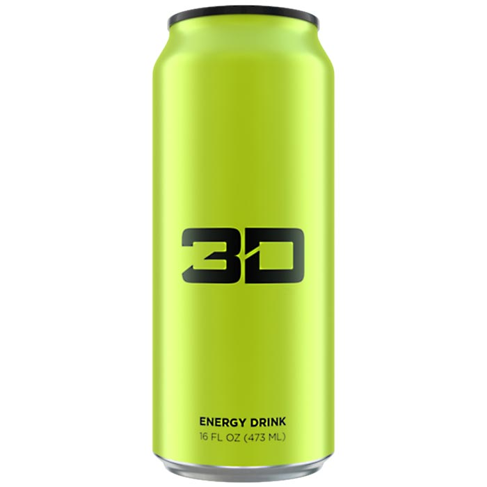 Image of 3D Energy 3D Energy Drink 1 Can Green