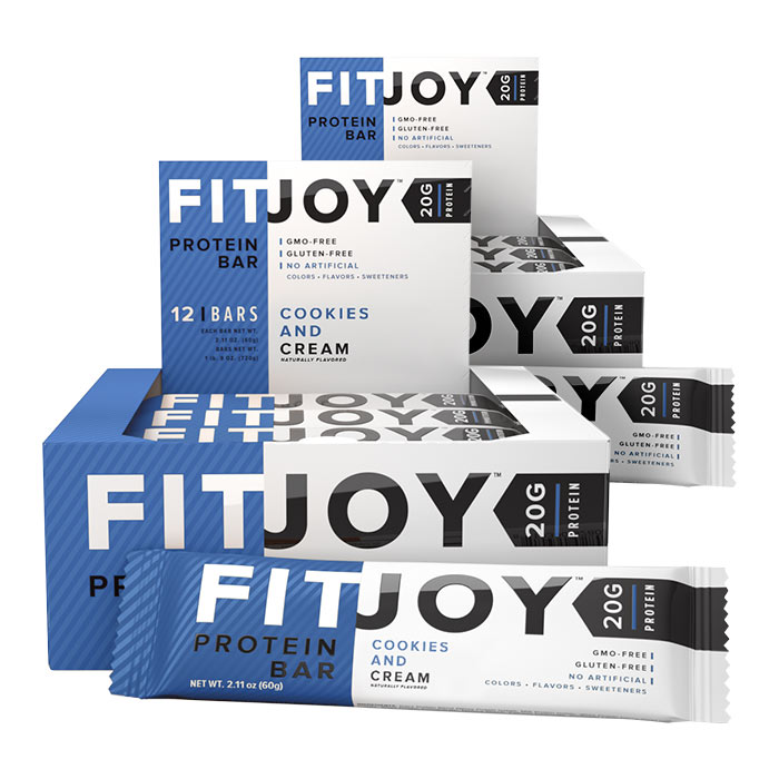 Fitjoy Bars 12 Bars Cookies & Cream