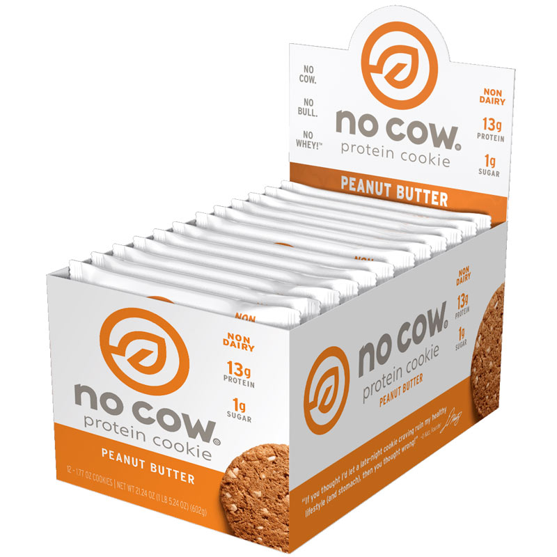 No Cow Cookie 12 Cookies Peanut Butter
