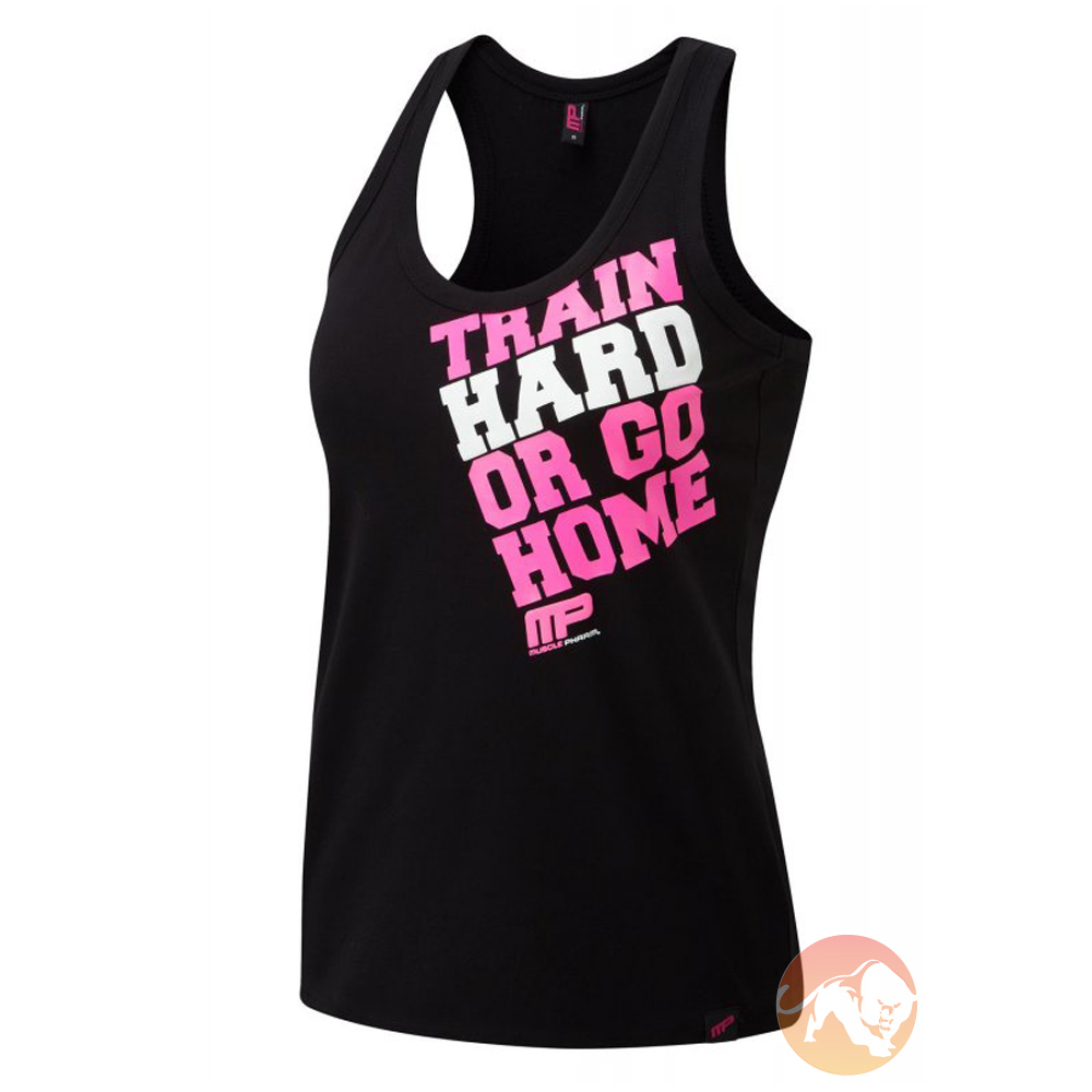Train Hard Or Go Home Black/Pink S