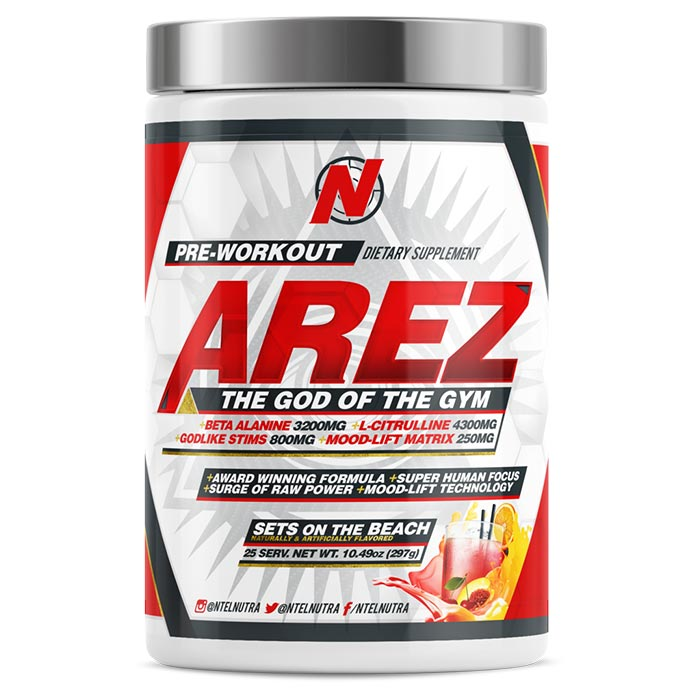 Image of NTEL Nutra Arez 25 Servings Sets On The Beach