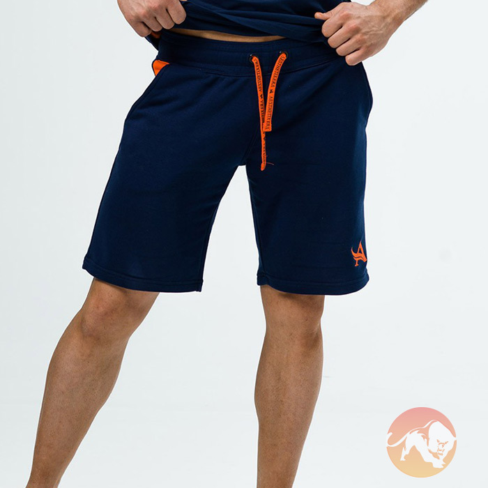 Shorts Navy Orange Small