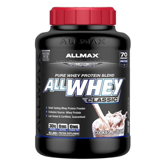 Image of Allmax Nutrition AllWhey Classic 2.27kg (5lb) Cookies & Cream