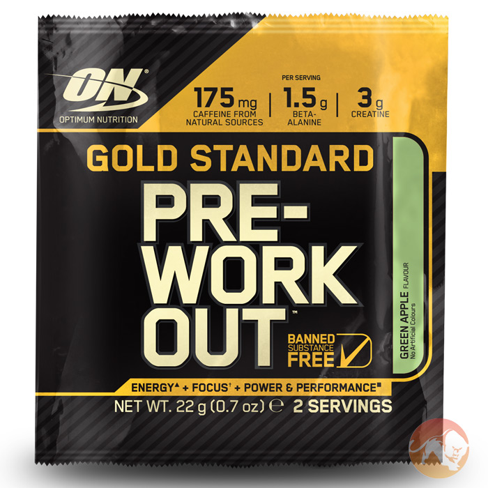 Gold Standard Pre-Workout 2 Servings - Green Apple